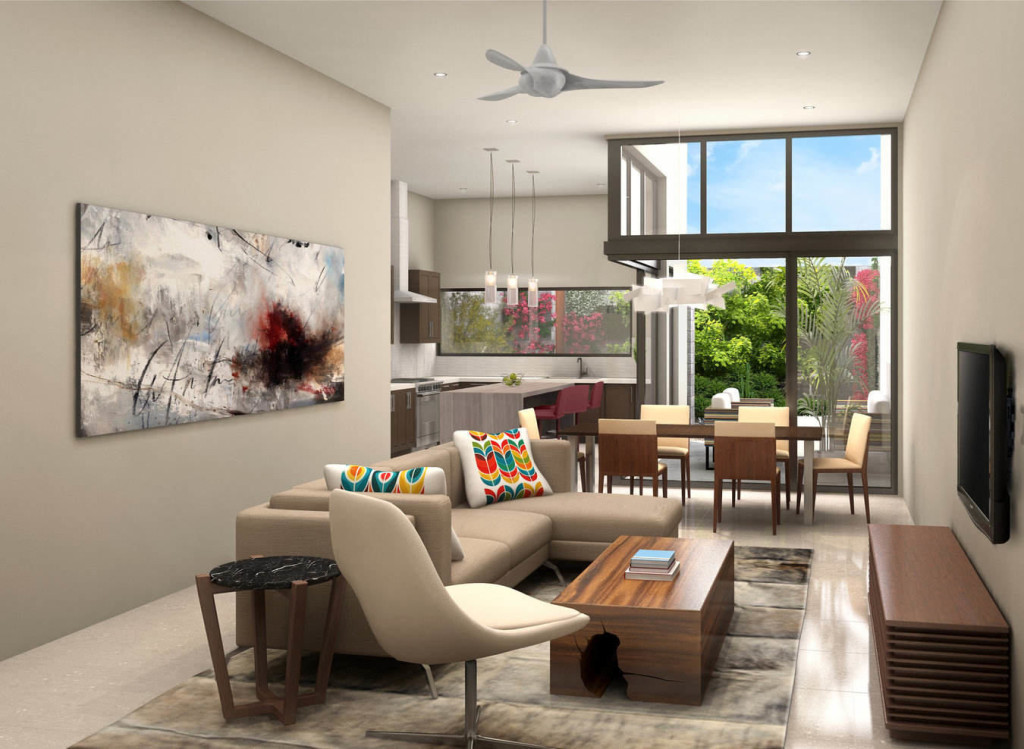 The douglas scottsdale living room rendering