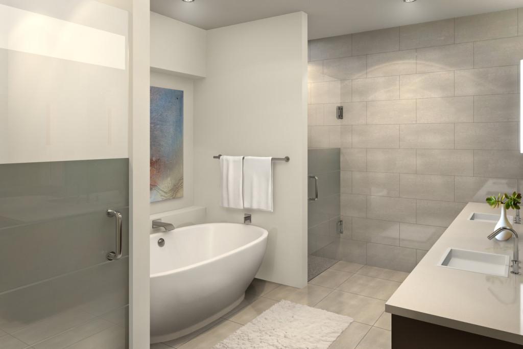 The douglas scottsdale master bath rendering