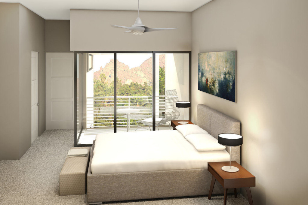 The douglas scottsdale master bedroom rendering
