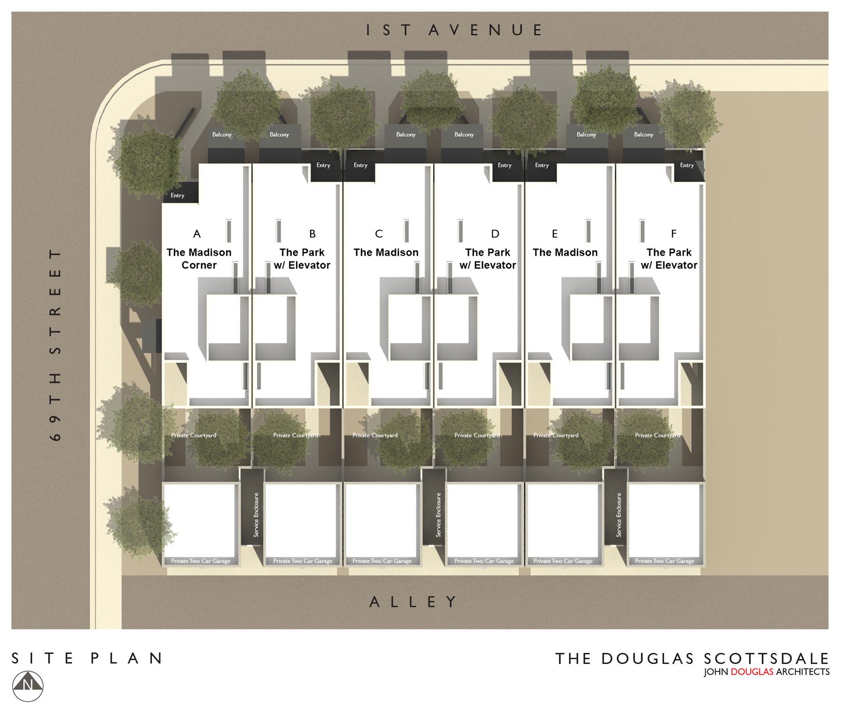 The douglas scottsdale site plan