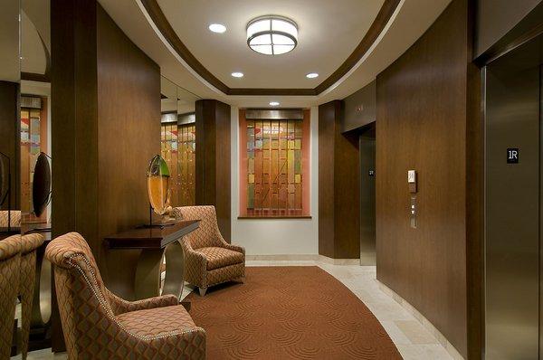 Elevator lobby the mark condos