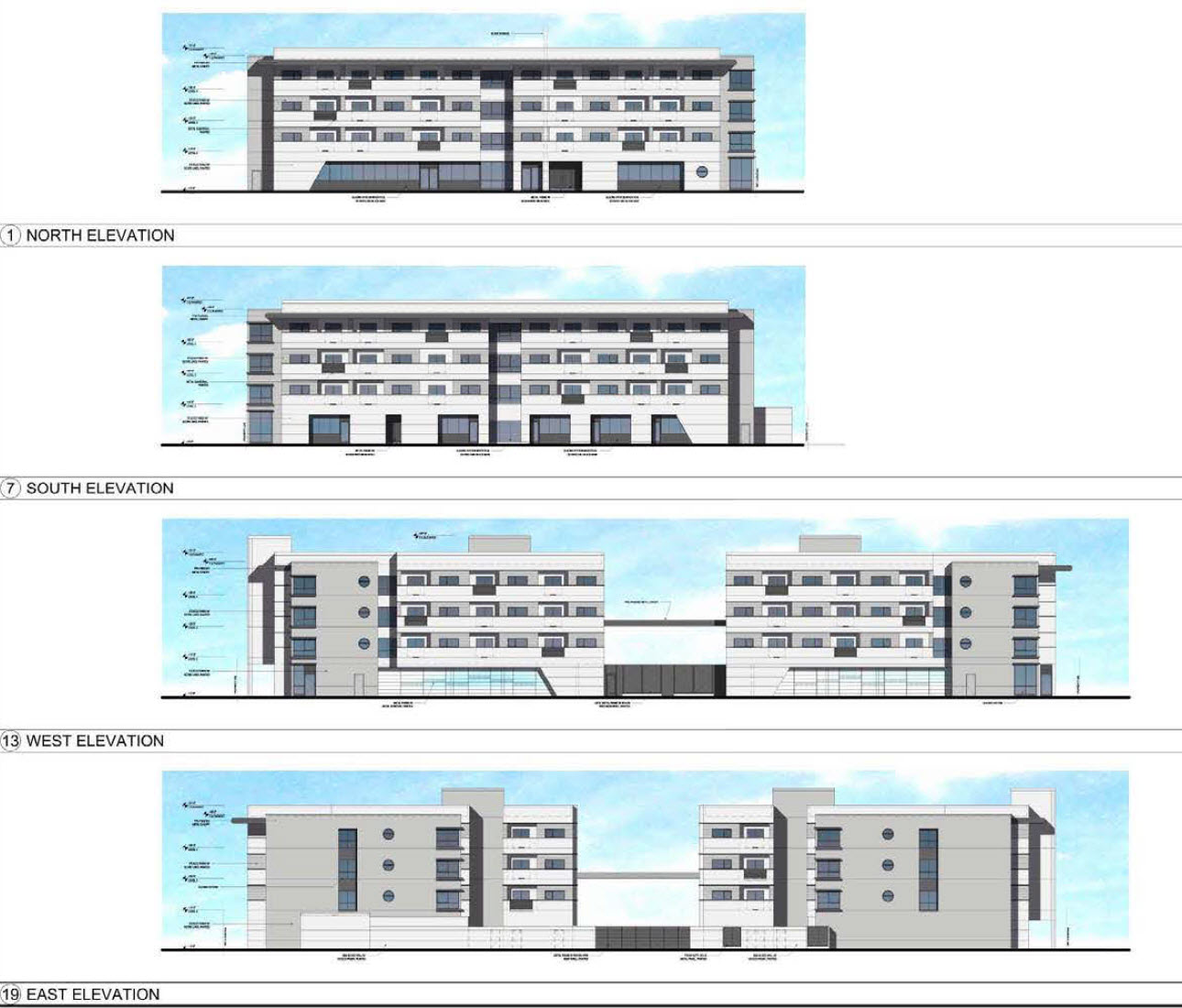 The presedential exterior elevations