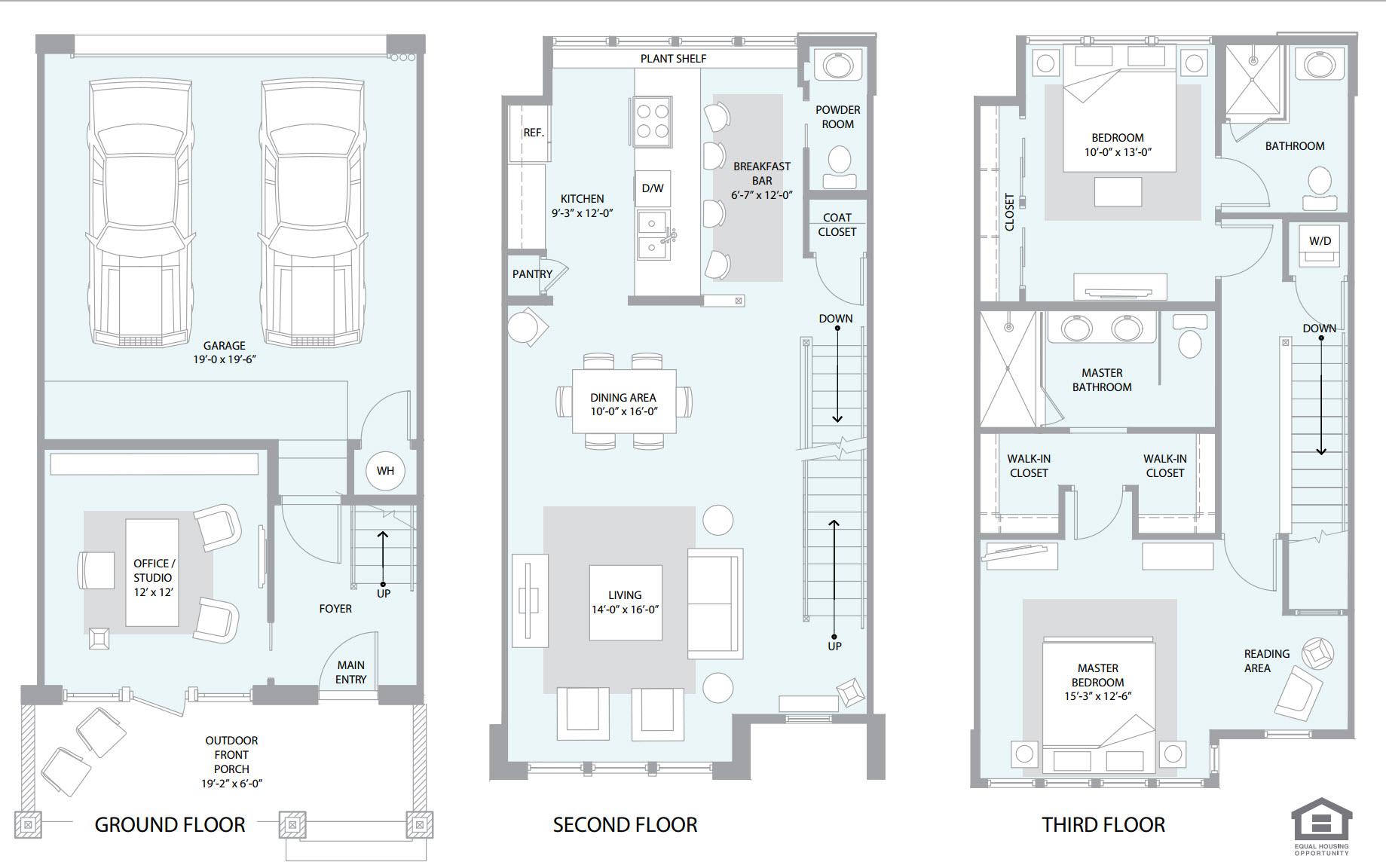 Townhomes on 3rd floorplan