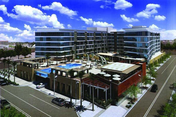 Building perspective w hotel condos